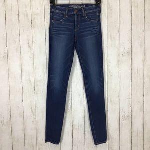 American Eagle Jegging Jeans Dark Wash Skinny Blue